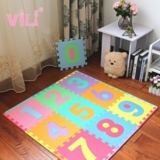 Vili Suit Digital Surat Anak's Puzzle Mats Jahitan Kamar Tidur Sponge Busa Plastik Lantai Mat-Intl