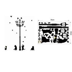 Vinmax Dapat Dilepas Seni Vinyl Mengutip DIY Stiker Dinding Decal Mural Kamar Rumah Dekorasi-Hitam