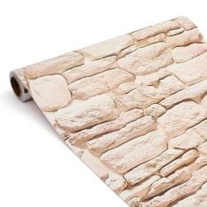 Vintage 3D Bata Wallpaper Roll 45 Cm X 10 M Brickwork Self-adhesiveWall Kertas Roll Dekorasi Rumah Toko Waterproof Stiker Dinding-Internasional