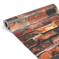 Vintage 3D Bata Wallpaper Roll 45 Cm X 10 M Brickwork Self-adhesive Wall Paper Roll Dekorasi Rumah Toko Sticker Dinding Tahan Air-Intl