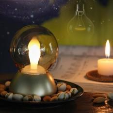 Antik Bohlam Ringan Retro Nirkabel Malam Ringan Portabel Lampu Samping Tempat Tidur Lampu Meja Isi Ulang