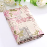 Promo Vintage Europe Styles Natural Cotton Linen Fabric Cloth Sewing Craft Remnants Pink Rose Intl Akhir Tahun