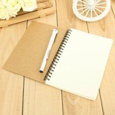Situs Review Vintage Kraft Kosong Diary Notebook Jurnal Sketchbook Spiral Bound 180X120 Internasional