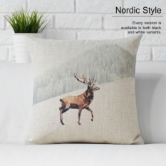 Vintage nordic/ikea style linen pillow cover sofa cushion car cushion office pillow cover bed by - intl