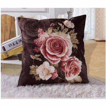 Penjualan Vintage Rose Lempar Bantal Sofa Sarung Bantal Kursi Mobil Pinggang Cushion Cover Shell Home Decor Cokelat Kehitaman-Intl terbaik murah - Hanya ...
