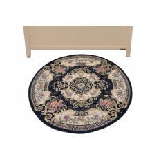 Vintage Story Carpet Classic Round Biru