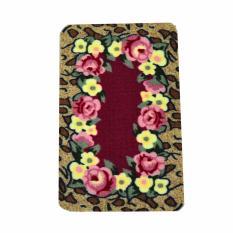 Vintage Story Carpet Floral Merah Motif Bunga