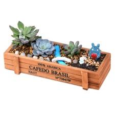 Promo Vintage Kayu Garden Penanam Bunga Crate Succulent Rectangle Tanaman Desktop Kotak Penyimpanan Pot Internasional Murah
