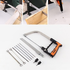 Vishine Mall-12Pcs/Set Handsaw Set DIY Multi Tujuan Bow Kayu Kerja Tukang Kayu Stainless Steel Pisau Tajam-Intl