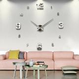 Vococal Diseduh Sendiri Besar Modern 3D Stiker Dinding Jam For Rumah Kantor Dekorasi Diskon Tiongkok