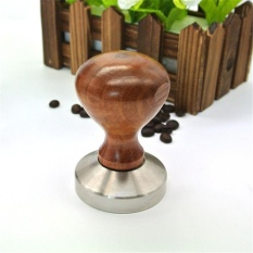 Review Vorstek 1 Pc Espresso Coffee Tamper Wooden Handle With Stainless Stell Base 49Mm 51Mm 49Mm Intl Indonesia