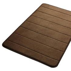 VORSTEK Simple Design Memory Foam Bath Mat Lembut Hangat dan Kuat Anti-slip Mat Di Kamar Tidur Kamar Mandi Stripes 40*60 Cm-Kopi-Intl