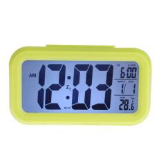 VR_Tech Digital Tunda Jam Alarm LED Backlight Waktu Kalender Termometer Hijau-Intl