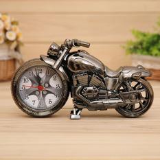 VR_Tech Fashion Creative Vintage Mini Motorcycle Shape Digital Alarm Clock Silver - intl