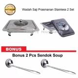Daftar Harga Wadah Saji Prasmanan Stainless 2 Set Bonus 2 Pcs Sendok Soup Yvette