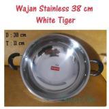 Beli Wajan Stainless 38 Cm White Tiger Kuali Multi Asli