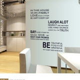 Jual Wall Decals Words And Quotes Pvc Wall Stickers Oem Online