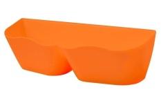 Dinding Dipasang Rak Sepatu Plastik Kreatif Sepatu Rak Pemegang Lengket Rumah Sepatu (Orange)