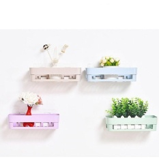 Wall Mounted Shower Corner Rak Organizer Kamar Mandi Dapur Penyimpanan Holder Rack Warna: Hijau Mud