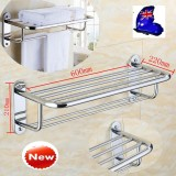 Beli Wall Mounted Rak Handuk Kamar Mandi Hotel Rail Holder Storage Shelf Stainless Steel Intl Cicil