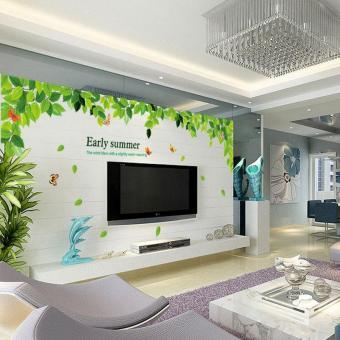dekorasi dinding rumah dengan wallpaper