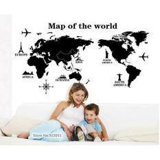 Beli Wall Sticker Ay9133 Map Of The World Stiker Dinding Untuk Dekorasi Kamar Anak Sticker Dinding Murah Penghias Dinding Rumah Wallpaper Dinding Lucu Warna Random Indonesia
