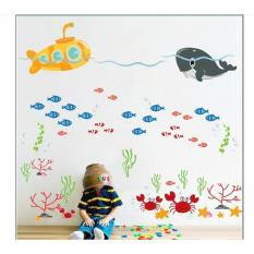 Wall Sticker DF5092 Ocean Submarine - Stiker dinding Untuk Dekorasi Kamar Anak - Sticker Dinding Murah