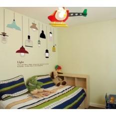 Jual Wall Sticker Jm7306 Classic Lamp Stiker Dinding Untuk Dekorasi Kamar Anak Sticker Dinding Murah Penghias Dinding Rumah Wallpaper Dinding Lucu Warna Random Satu Set