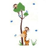 Jual Wall Sticker Pengukur Tinggi Badan Monkey And Girraffe 90 X 60 Cm Di Dki Jakarta
