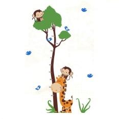 Spesifikasi Wall Sticker Pengukur Tinggi Badan Monkey And Girraffe 90 X 60 Cm Dan Harganya
