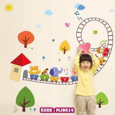 Wall Stiker Kereta Hewan Anak