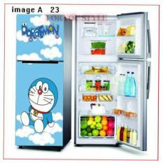 Wall Stiker Kulkas 2 Pintu Wallpaper Kulkas 2 Pintu Karakter Doraemon Awan
