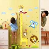 Dapatkan Segera Wall Stiker Pengukur Tinggi Badan Anak Xy1105 Giraffe Lion Warna Random