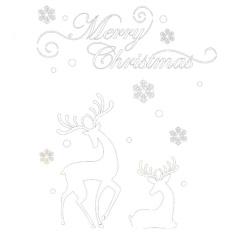 Dinding Jendela Stiker Hari Natal Rusa Besar Kepingan Salju Dapat Dilepaskan Dinding Stiker Dekorasi-Internasional