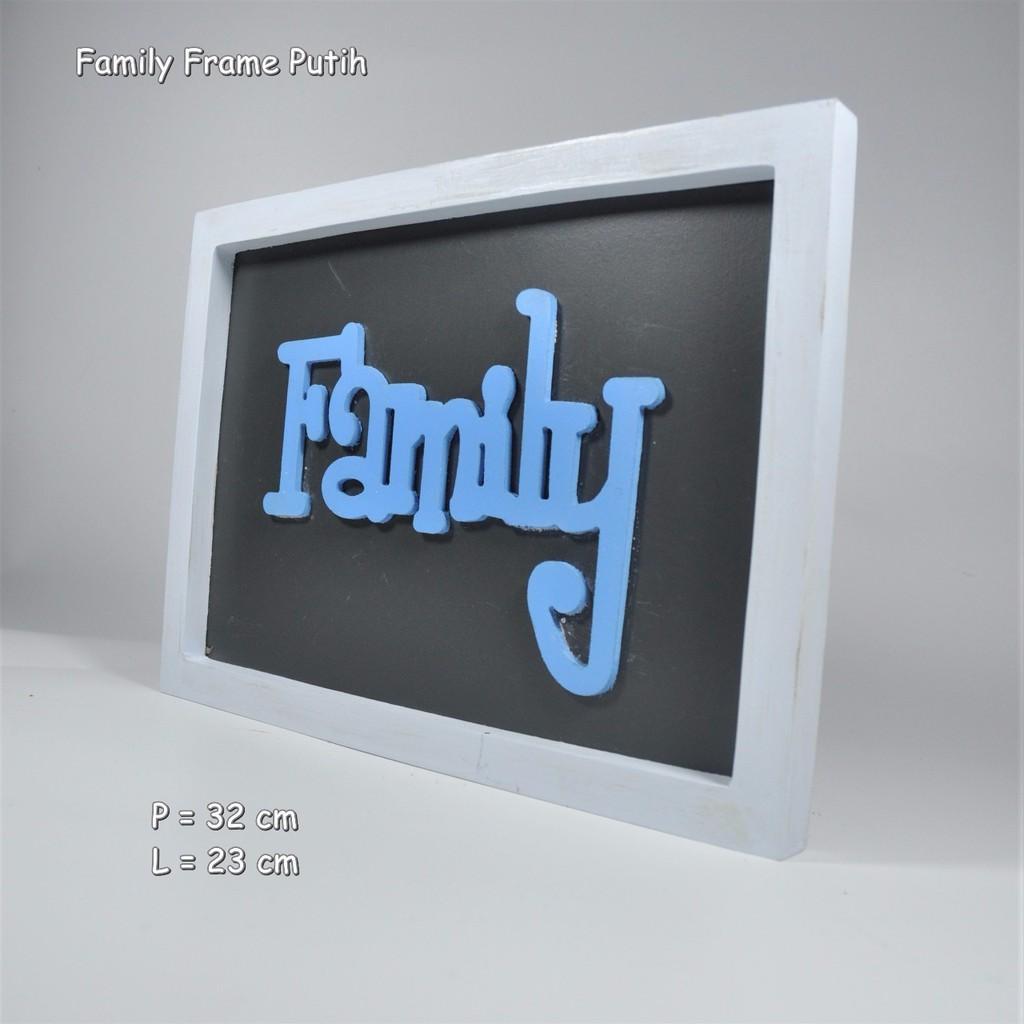 Beli sekarang Walldecor Hiasan Dinding Family Frame- Shabby- Kayu- Kaligrafi- Vintage-