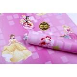 Harga Wallpaper Dinding Motif Princess Pink Wallpaper Kamar Anak Terbaru
