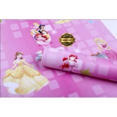 Jual Wallpaper Dinding Motif Princess Pink Wallpaper Kamar Anak Original