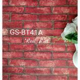 Jual Wallpaper Dinding Sticker Batu Bata Merah Kode 41A Pvc