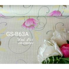 Toko Wallpaper Dinding Sticker Bunga Pink Kode B63 Online Terpercaya