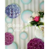 Pusat Jual Beli Wallpaper Dinding Sticker Bunga Rose Buket Ungu Pink Kode 48A Jawa Barat