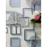 Beli Wallpaper Dinding Sticker Pohon Kotak Biru Kode M44B Pake Kartu Kredit