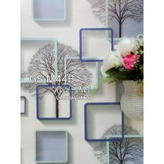 Jual Wallpaper Dinding Sticker Pohon Kotak Biru Kode M44B Murah Di Jawa Barat