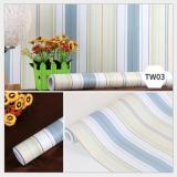 Wallpaper Dinding Uk 45 Cm X 10 M Motif Garis Biru Multi Diskon 30
