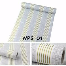 Spesifikasi Wallpaper Dinding Uk 45 Cm X 10 M Motif Putih Abu Garis Emas Terbaik