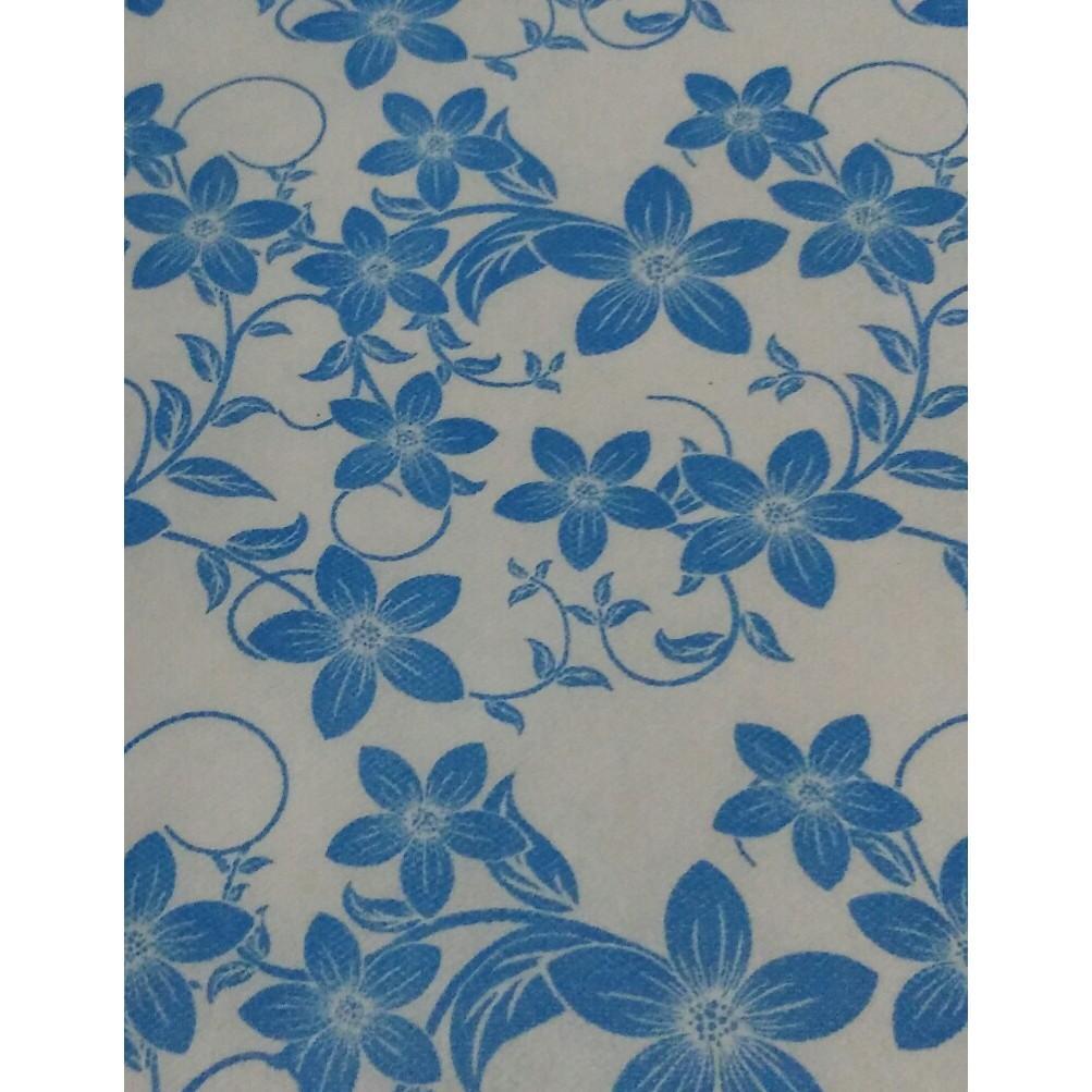 Wallpaper Dinding Yasmine Biru- Sticker- Dinding 3D- Dinding Kamar Tidur- Dinding Murah- Rumah