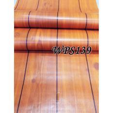 Harga Wallpaper Sticker 45Cmx5M Wps139 Teak Wood List Di Dki Jakarta