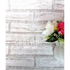 Jual Wallpaper Sticker Bata Putih Abu Branded Murah