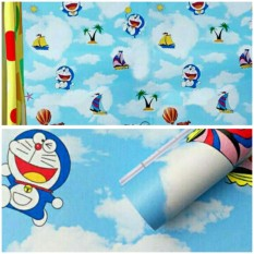 Jual Wallpaper Sticker Dinding Biru Doraemon Di Awan Online
