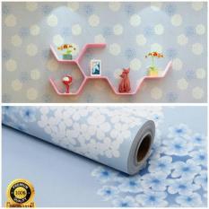 Toko Jual Wallpaper Sticker Dinding Bunga Dandelion Biru