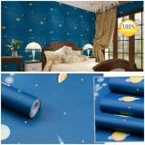 Diskon Produk Wallpaper Sticker Dinding Galaxy Biru Planet Angkasa